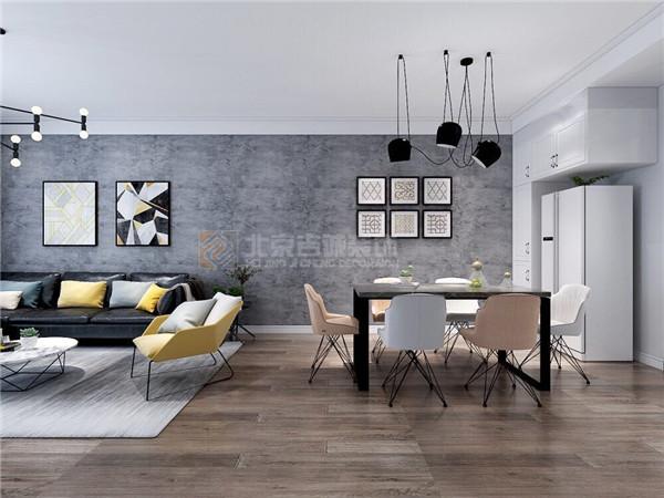 [装修案例]120平米现代简约风格 看高级灰的完美诠释