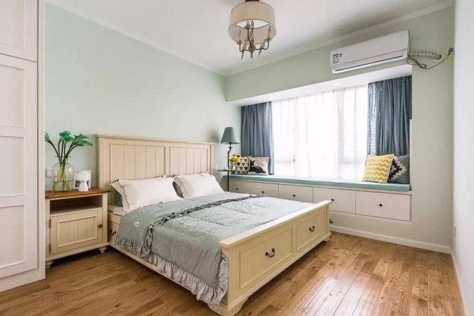 [装修案例]82平米三居室美式风格装修效果图 清新的小资空间