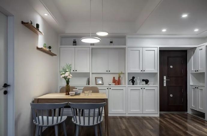 [装修案例]87平米两室一厅北欧风格装修效果图 玩转色彩的艺术