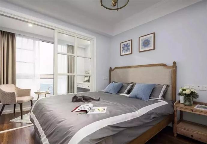 [装修案例]80平米美式风格装修效果图欣赏 利用好每一处空间让生活更有品质