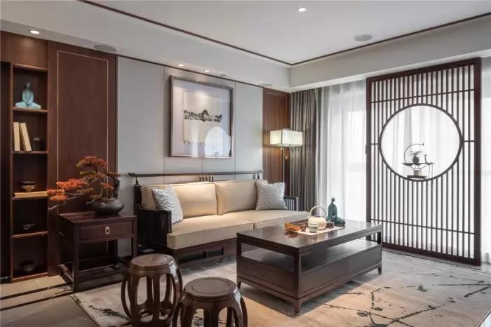 [装修案例]140平米四室新中式风格装修效果图 古韵的文化气息端庄档次