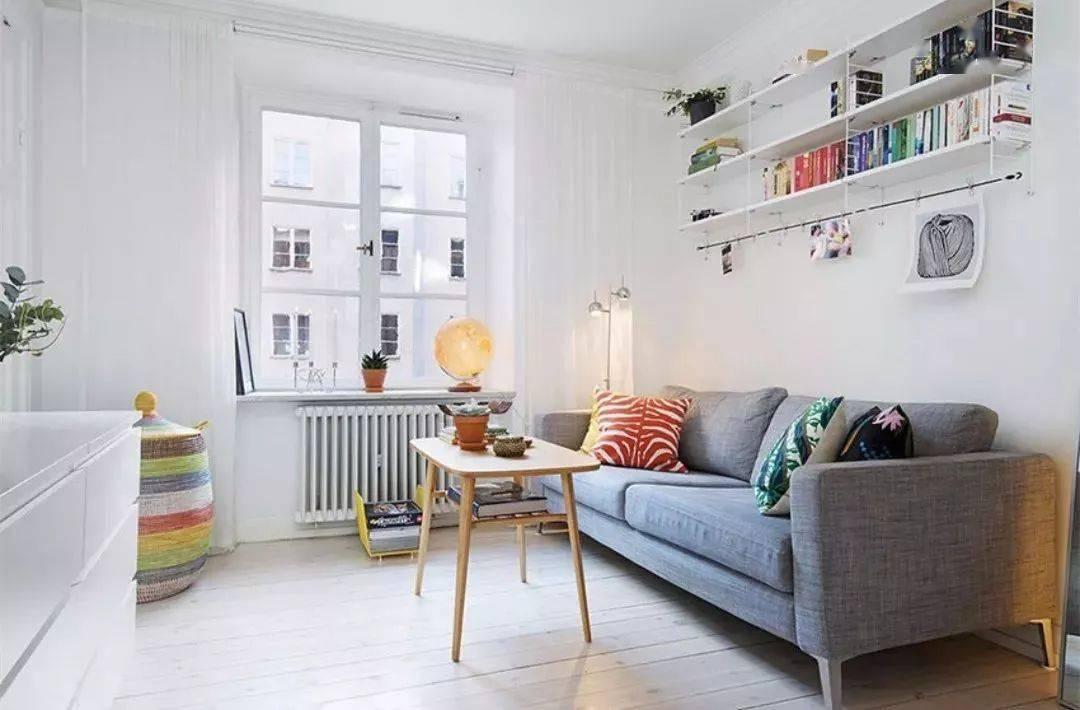 小戶型客廳裝修設計 沙發背景墻這樣設計 美觀又實用